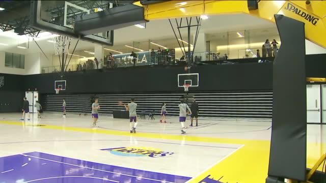 KTLA Los Angeles Lakers Practice