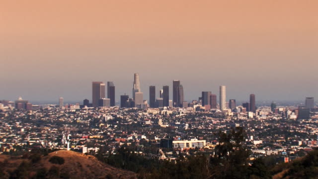Los Angeles Skyline at Sunset (zoom HD)