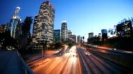 HD: Los Angeles Skyline at Twlight