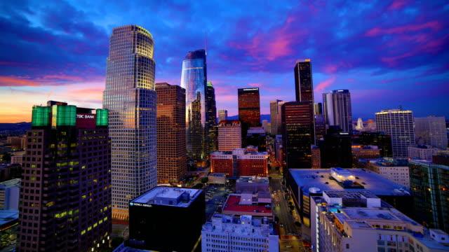 Los Angeles sunset time lapse 4K