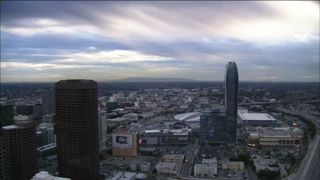 KTLA Los Angeles Time Lapse Day To Night on November 11 2011 in Los Angeles California