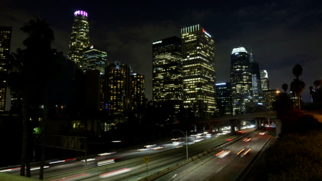 Los Angeles Traffic at Night