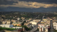 Los Angeles Traffic on Cloudy Day - Time Lapse