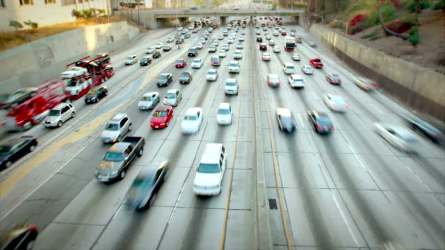 Los Angeles Time Lapse del traffico