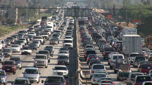 Los AngelesHeavy traffic on Freeway in Los Angeles United States