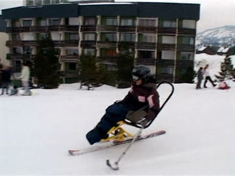 Losing the use of your legs might put most people off throwing themselves down mountains but not Zelie La Pierre France