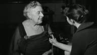 10 lost Agatha Christie plays discovered LIB INT B/W archive Agatha Christie being interviewed Q do you prefer writing plays or books Agatha Christie...