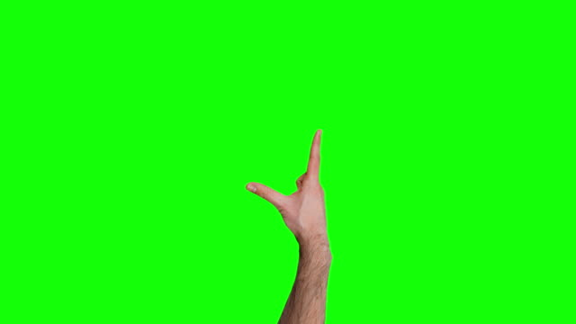 Viele Touchscreen-Gesten auf grünen Bildschirm. 4 k