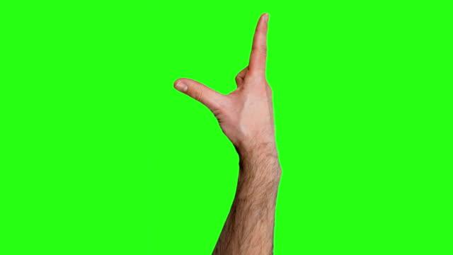 Viele Touchscreen-Gesten auf grünen Bildschirm.  HD -