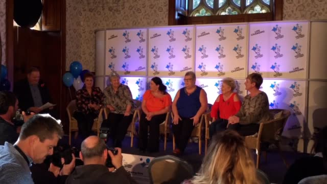Lottery winners' press conference at Hensol Castle in the Vale of Glamorgan The six winners discuss their win and what they'd like to do with the...