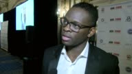 Louis Saha on the app it's goal fellow players and the lastest terror attack in Manchester at Carlton Hotel on May 24 2017 in Cannes France