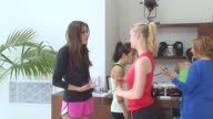 Louise Roe Ally Maki and Leven Rambin at the Muscle Milk Women's Fitness Retreat at Beverly Hills CA