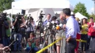Louisiana Governor Bobby Jindal and Lafayette police chief Jim Craft hold a press conference Friday after observing the crime scene of the deadly...