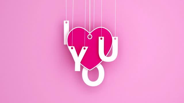 Love - Emotion romance origami pendant swaying