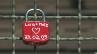 CU Love lock on Hohenzollern Bridge / Cologne, North Rhine-Westphalia, Germany