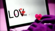 Love Typing heart sweet san valentine