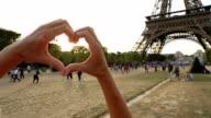 Liefde-Parijs-hart