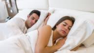 Verliefde paar slapen