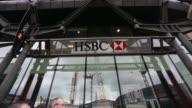 Low Angle Close Up HSBC logo and signage