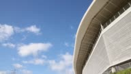 Low Angle Mid Shot general view of the Wirsol RheinNeckar Arena prior to the Bundesliga match between TSG 1899 Hoffenheim and Hertha BSC Berlin at...