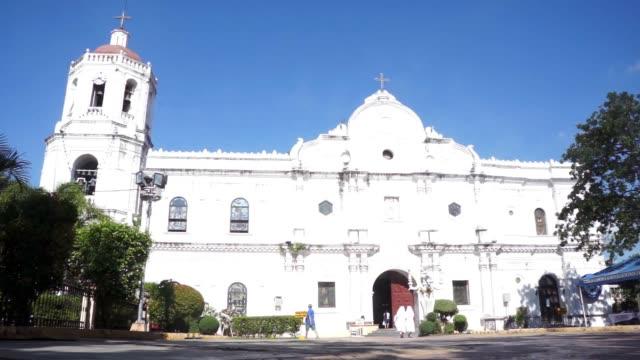 Low angle of Santo Nino Church in Cebu City