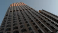 Low Angle skyscraper dawn HD