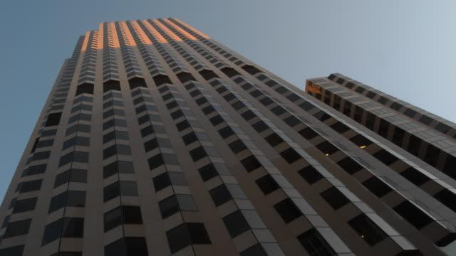Low Angle skyscraper dawn HD