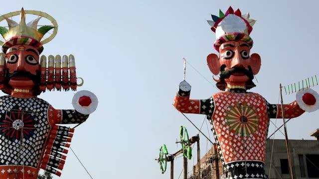 Low angle view of ravana in dussehra festival, Delhi, India