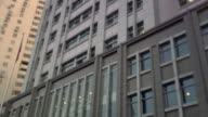 Low angle wide shot tilt down police station/ Beijing