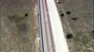 low flight along railroad - Aerial View - Western Cape,  West Coast District Municipality,  Saldanha Bay,  South Africa