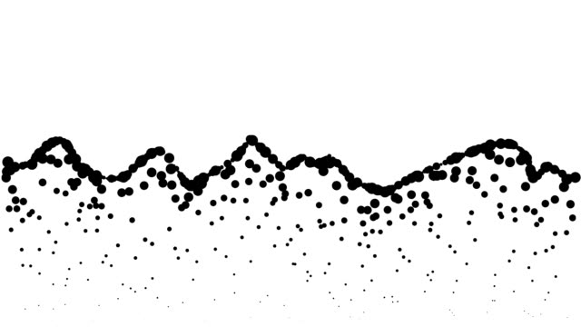 LANDSCAPE - low mountains, pure black dots (LOOP)