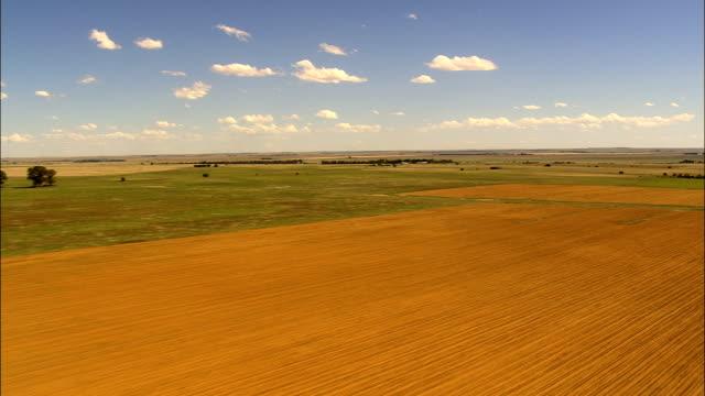 Low Over Fields  - Aerial View - Orange Free State,  Lejweleputswa District Municipality,  Matjhabeng,  South Africa