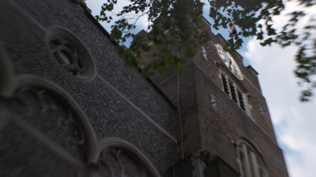 Low-angle shot of the facade of St Bartholomew the Great Church in the City of London, UK.