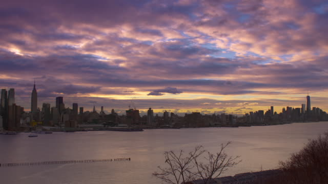 Lower Manhattan Skyline on a early December Morning