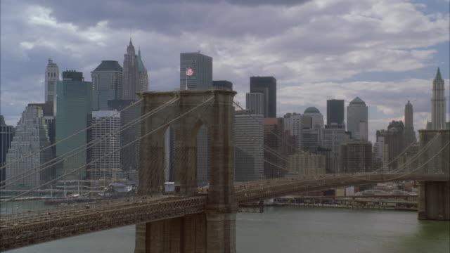 WS HA Lower Manhattan Skyline With Brooklyn Bridge / New York City, New York, USA