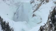 WS Lower Yellowstone Falls in Winter, Yellowstone National Park, Wyoming, USA