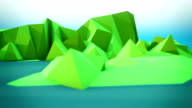 Lowpoly loopable spring mountain panorama
