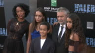 Luc Besson and Virginie BessonSilla at the 'Valerian and the City of a Thousand Planets' World Premiere at TCL Chinese Theatre on July 17 2017 in...
