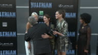 Luc Besson Virginie BessonSilla Sasha Luss Aymeline Valade and Pauline Hoarau at the 'Valerian and the City of a Thousand Planets' World Premiere at...