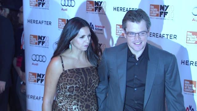 Luciana Damon and Matt Damon at the 'Hereafter' 48th New York Film Festival Closing Night at New York NY