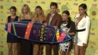 Lucy Hale Ashley Benson Vanessa Ray Ian Harding Janel Parrish and Shay Mitchell at the Teen Choice Awards 2015 at USC Galen Center on August 16 2015...