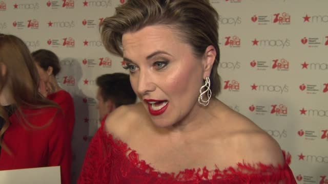 INTERVIEW Lucy Lawless on fighting heart disease at The American Heart Association's Go Red For Women Red Dress Collection 2017 Presented By Macy's...