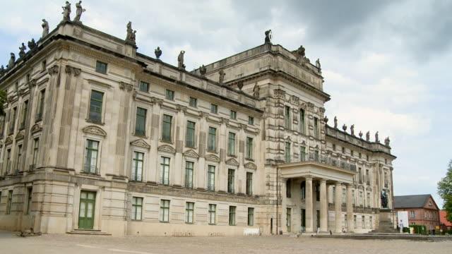 WS LA Ludwigslust Castle with cloudy sky / Ludwigslust, Mecklenburg Vorpommern, Germany