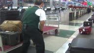 Luggage claim at O'Hare Airport on November 26 2012 in Chicago Illinois
