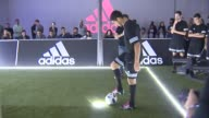 Luis Suarez Presents New Football Boots By Adidas