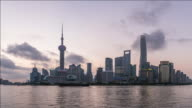 T/L Lujiazui financial district at morning, Shanghai, China