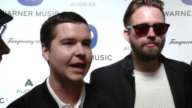 INTERVIEW Lukas Graham on performing tonight what to expect and talks their new album at Warner Music Group Grammy After Party 2016 in Los Angeles CA