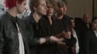 Luke Hemmings Michael Clifford Calum Hood and Ashton Irwin of 5 Seconds of Summer at the 2014 American Music Awards at Nokia Theatre LA Live on...