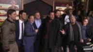 Luke Wilson Terry Crews Adam Sandler Taylor Lautner Rob Schneider Jorge Garcia Chris Kattan and Frank Coraci at 'The Ridiculous 6' Los Angeles...