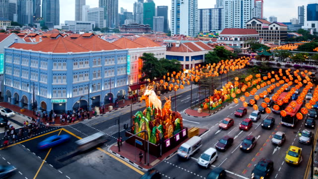 Lunar New Year Decoration at Chinatown Singapore